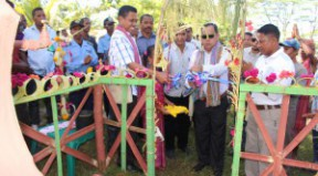 Vice Minister, Tomas Cabral was accompanied by coo - Chef Miguel and Liquica Municipal Administrator officially inauguration clean water project