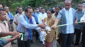 The President of the Republic was accompanied by the Secretary of State as officials inaugurated a bridge in the Hatolia village